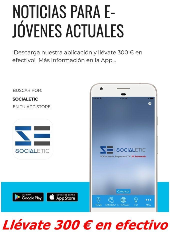 SOCIALetic.com regala 300 ? por descargar su nueva App