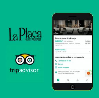 El Restaurante La Plaça mejora gracias a TripAdvisor