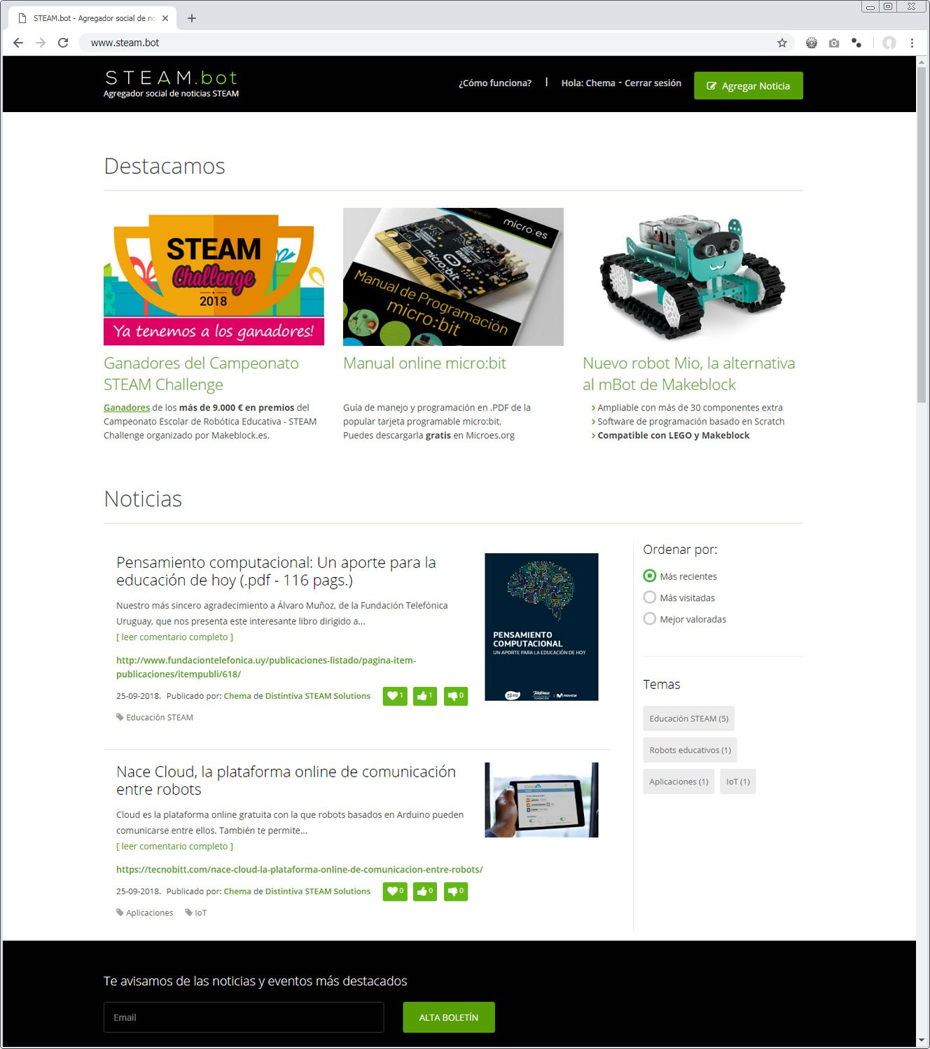 Nace STEAM.bot, Agregador Social de Noticias STEAM