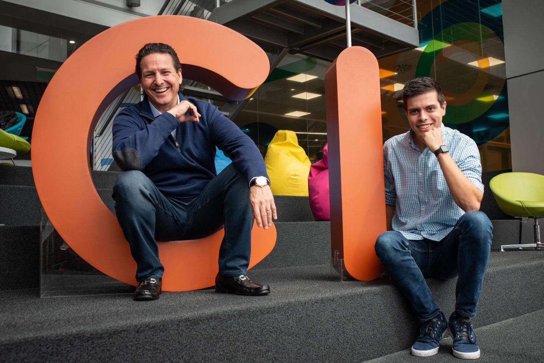 Foto de Pau Garcia-Milà, CEO de Ideafoster, y Jaime Dasso, CEO de