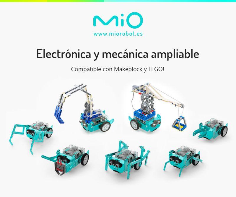 Fotografia Mio robot es ampliable y compatible con LEGO y Makeblock