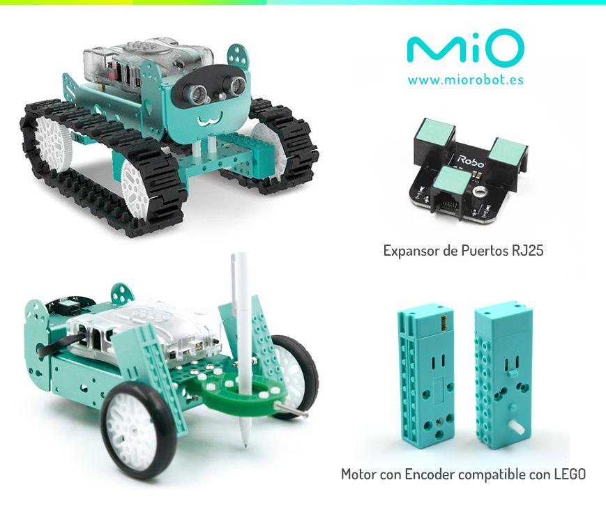 Fotografia Expansor de Puertos RJ25 y Motor compatible con LEGO