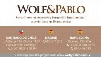 Chile, un país de oportunidades de inversión, según la consultoría en internacionalización Wolf y Pablo