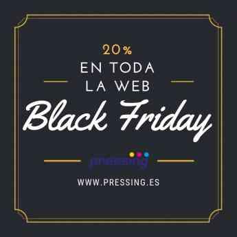 El Black friday de Pressing ofrece un descuento de 20% en todos sus productos