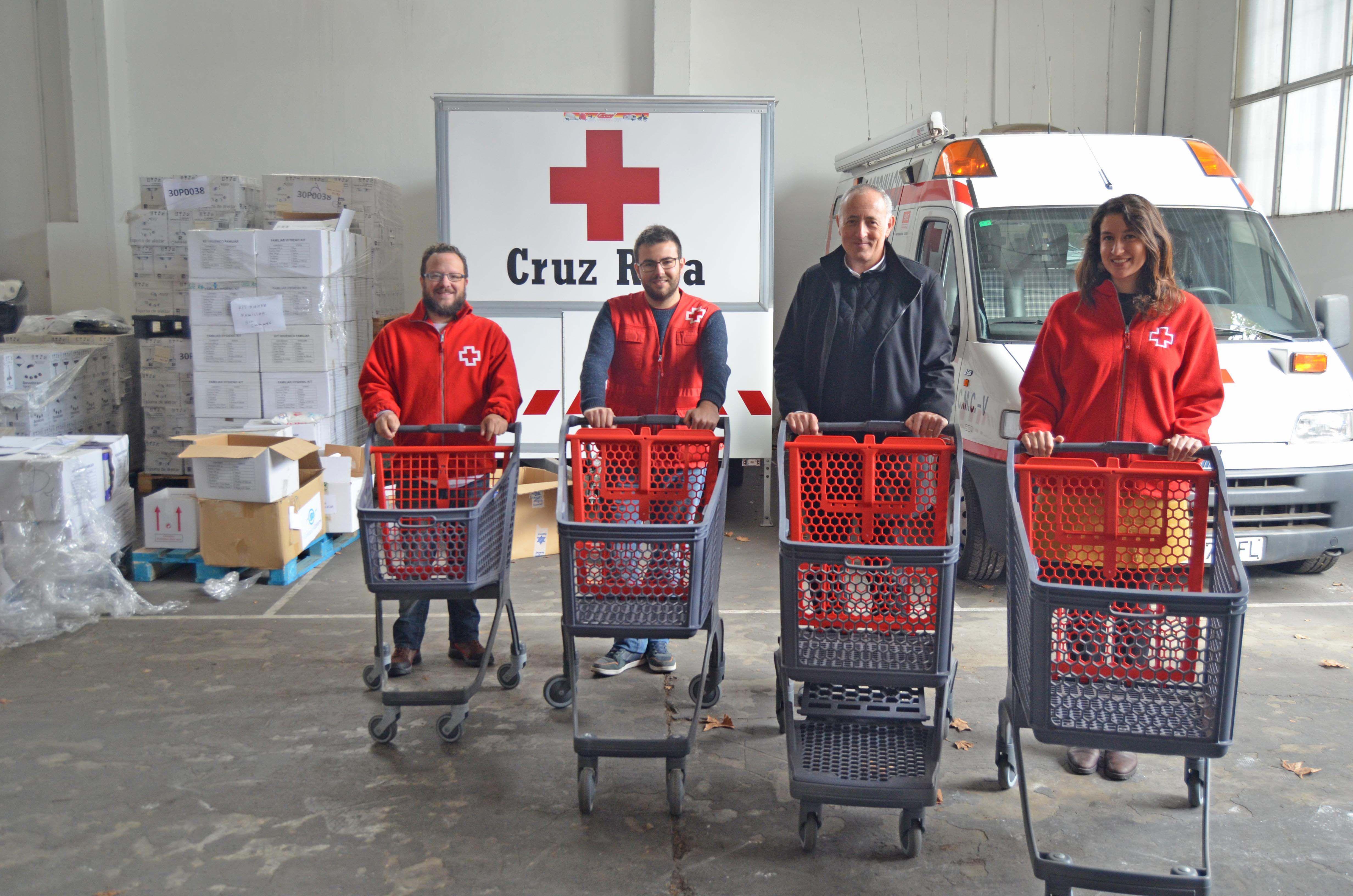 Foto de Entrega de los carritos solidarios de ITM Polycart a Cruz