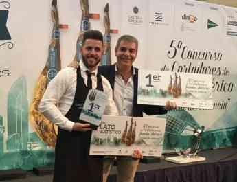 El salmantino Geovanny Almanza se alza con el premio al mejor cortador de jamón ibérico en el concurso 'Ciudad de Valencia'