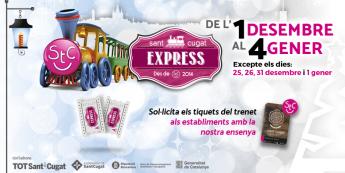 El tren 'Sant Cugat Express' llega a Sant Cugat del Vallès este sábado 1 de diciembre