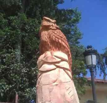 Escultura del buho real