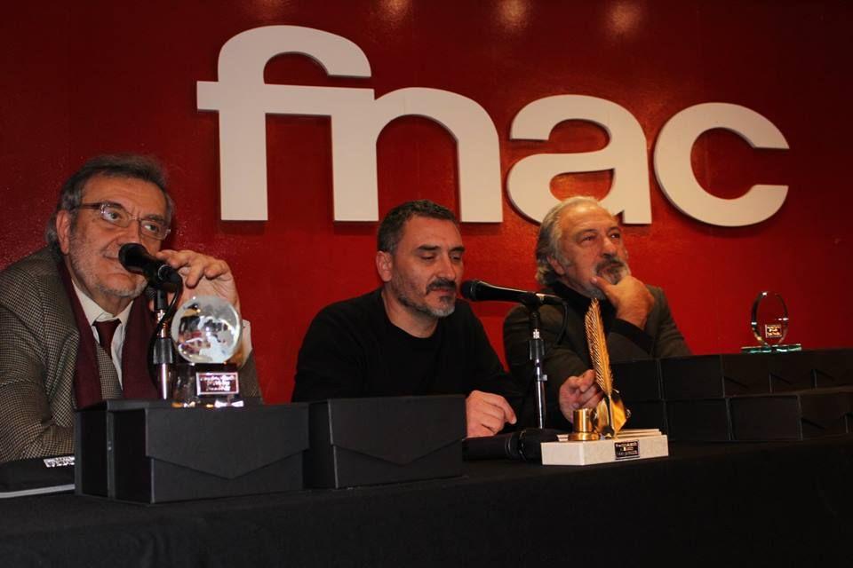 Fotografia El autor José Luis Muñoz, J.D Álvarez y Emilio Porta