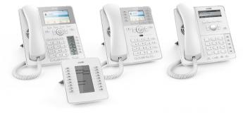 Los nuevos teléfonos IP blancos de Snom