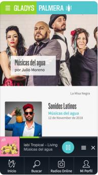 Foto de Pantallazo de la nueva aplicación móvil de Radio Gladys