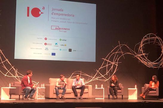 Foto de Lluís Feliu i Xavier Morlans en la Jornada de Emprendeduría