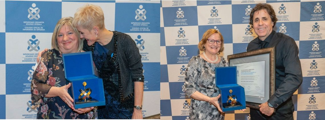 Foto de Puri Tena y Angel López recogieron los Premios COEGI 2018 en