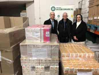 Foto de Mutua Intercomarcal destina 1,8 toneladas de alimentos en el