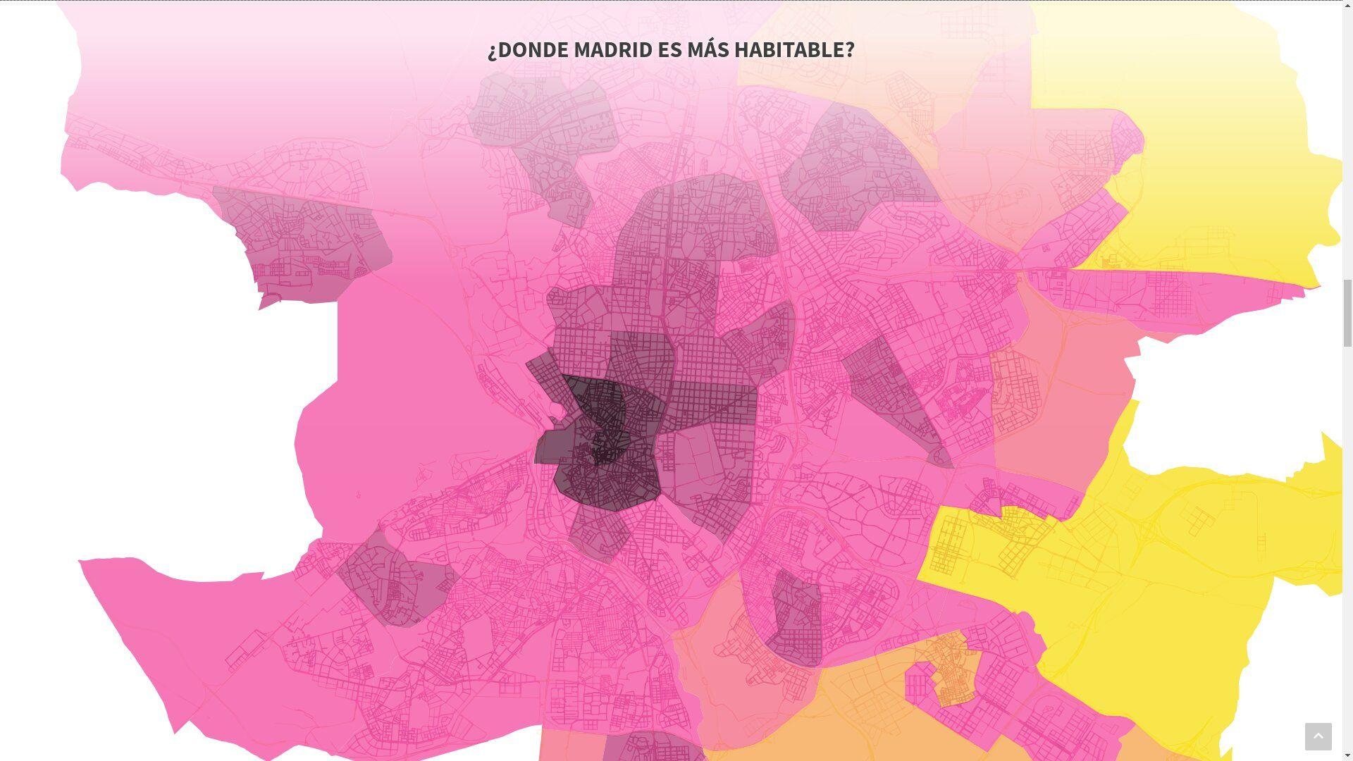 Foto de Mapa de habitabilidad de Madrid