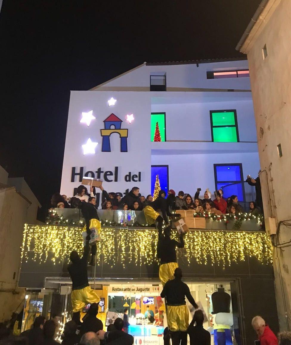 Fotografia LLegan los Reyes Magos al Hotel del Juguete