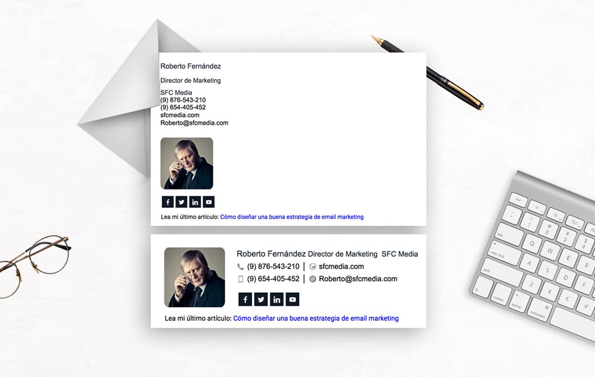 Fotografia NEWOLDSTAMP | Ejemplos de firmas de correo profesionales