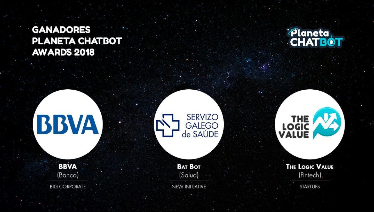 BBVA, Servicio Gallego de Salud y The Logic Value, los mejores chatbots de 2018