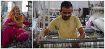 Foto de Fabricación-de-alfombras-anudadas-a-mano-y-tejidas-a-mano