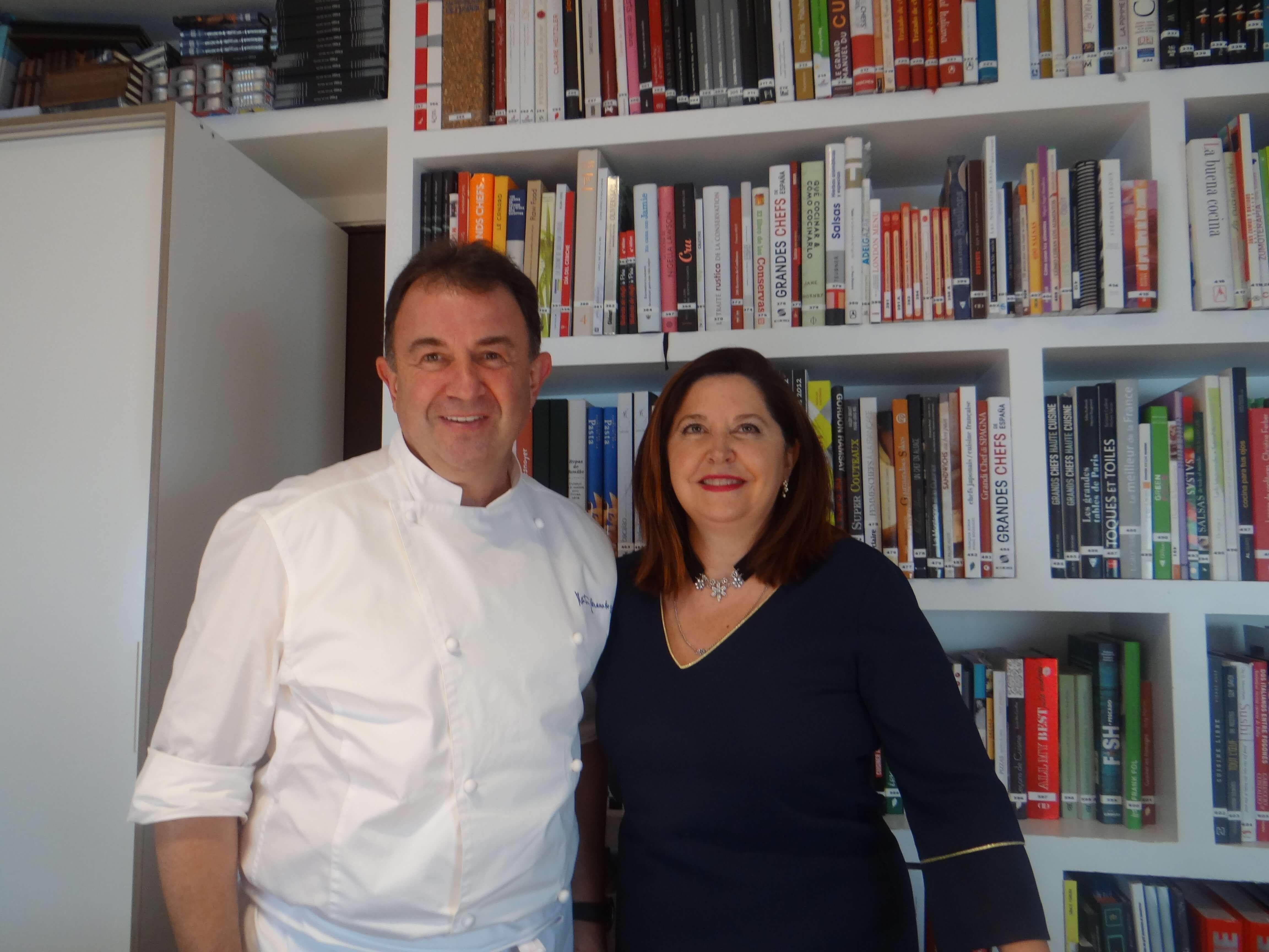 Fotografia Ana Toribio con Martín Berasategui
