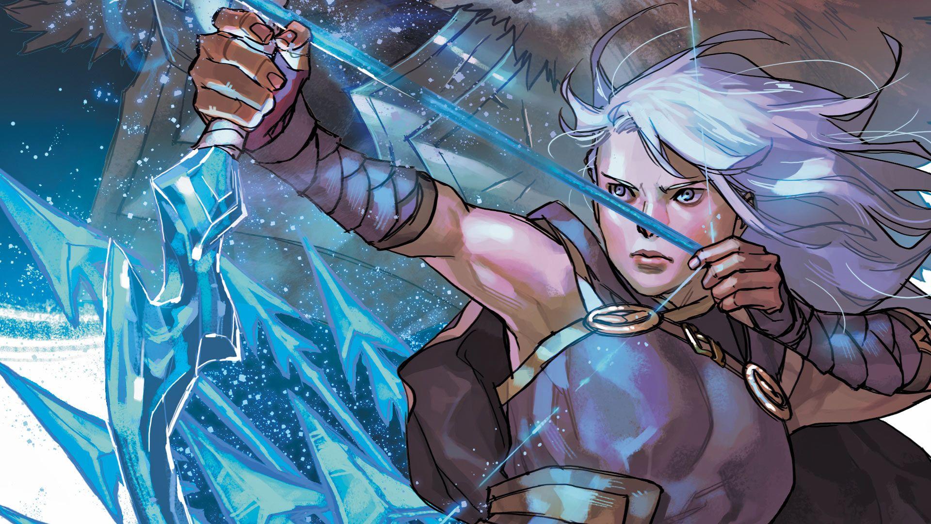 Foto de Ashe comandante - en el comic de Marvel y League of Legends