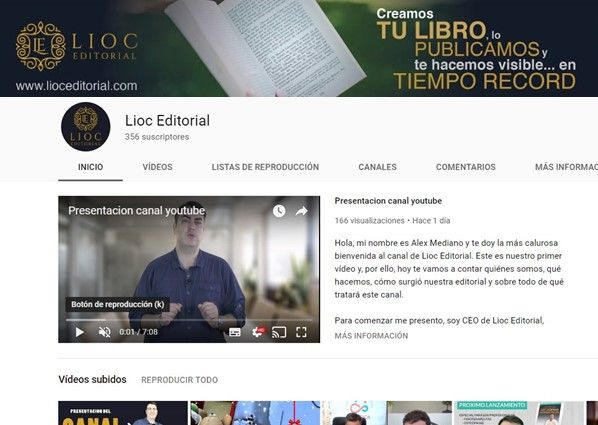 Foto de canal de youtube de Lioc Editorial