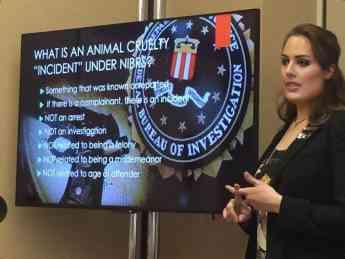 Foto de Dra Querol en la Conferencia Americana de Criminología