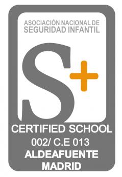 Foto de Certificado de calidad S+ Colegio Aldeafuente-Madrid