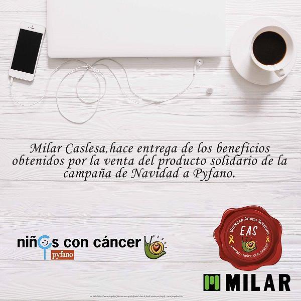 Foto de Milar Caslesa con la asociación Pyfano