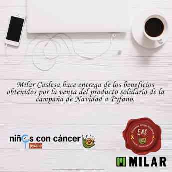 Milar Caslesa con la asociación Pyfano