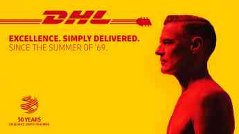 DHL socio logístico de Bryan Adams
