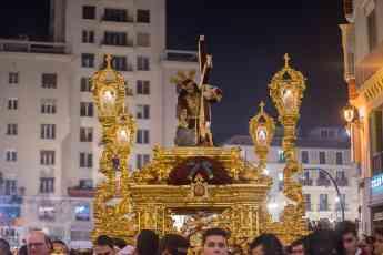 Detalle de un desfile de Semana Santa