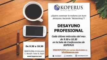 'BUSINESS BREAKFASTS' organizados por el despacho internacional de abogados KOPERUS BLS