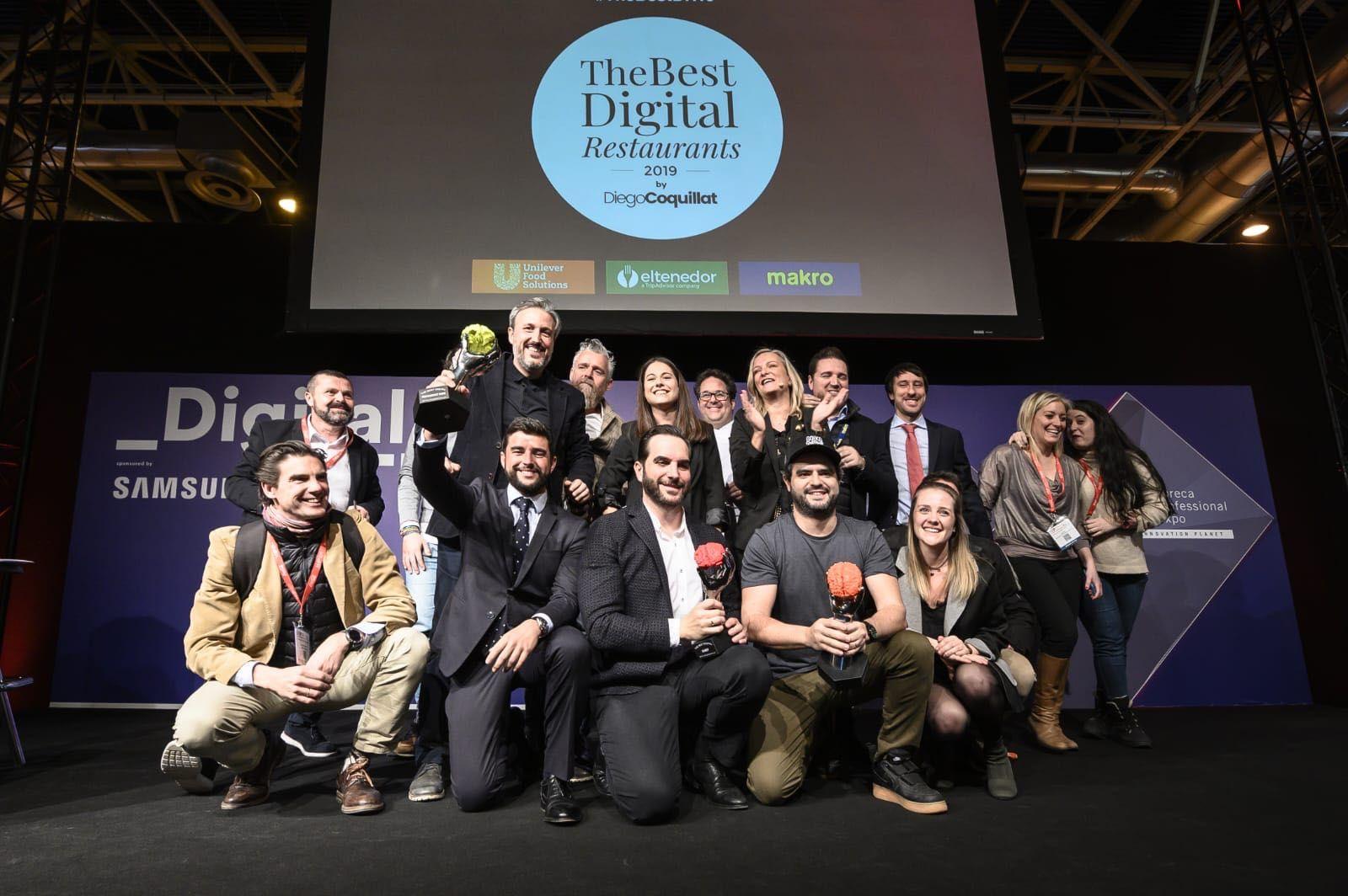 Mario Sandoval, Goiko Grill y el restaurante El Pimpi, ganadores de The Best Digital Restaurants 2019