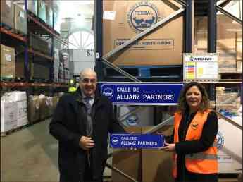 Allianz Partners inaugura la calle con su nombre en el Banco de Alimentos de Madrid