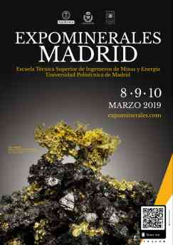 Póster expominerales madrid 2019