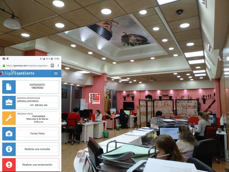 Foto de Pantalla smartphone de Expedientes