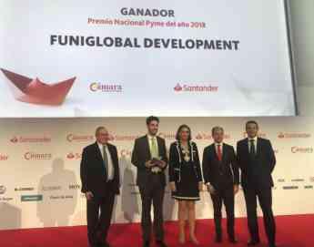 Funidelia recibe el Premio a Pyme del Año 2018