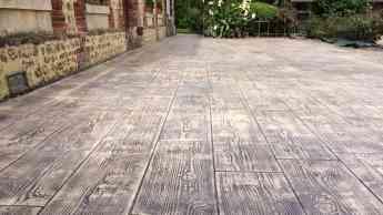 Foto de Pavimento impreso Madera con Paviconj