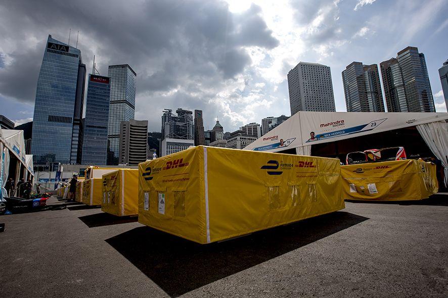 Foto de DHL socio logístico de la Fórmula E