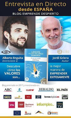 Foto de Alberto Enguita entrevista en directo a Jordi Griera para su