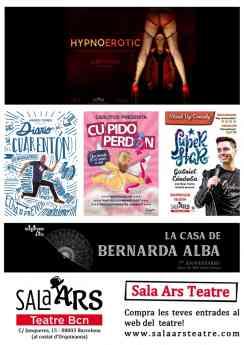 Foto de sala ars teatre barcelona abril 2019