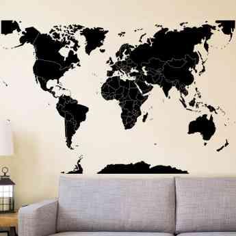 VinilosParedes.es, vinilo mapamundi