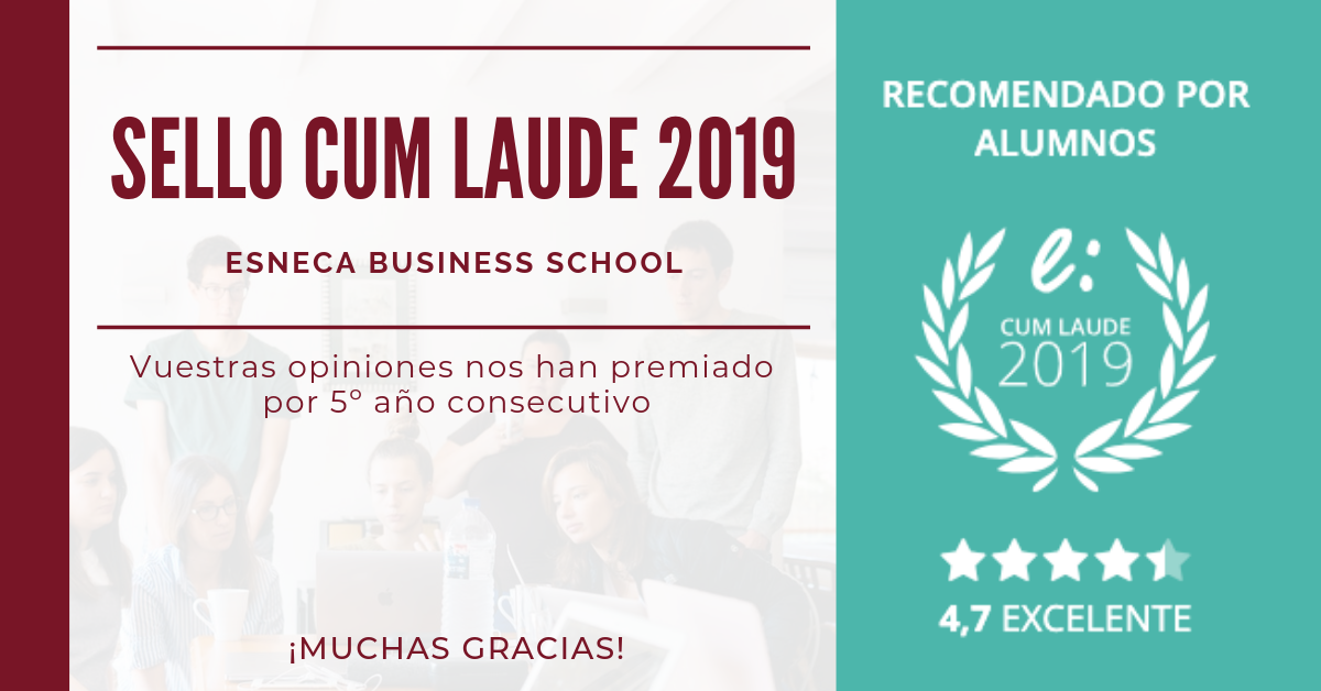 Esneca Business School recibe su quinto Sello Cum Laude 2019