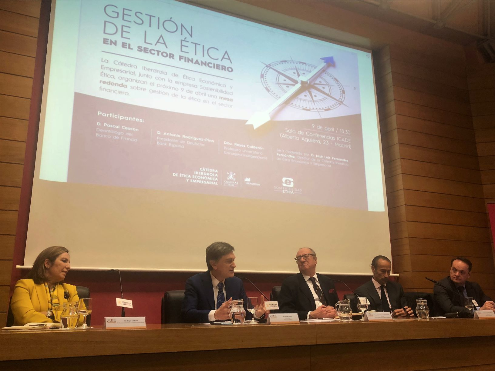 Foto de Jornada 'La gestión de la ética en el sector financiero'