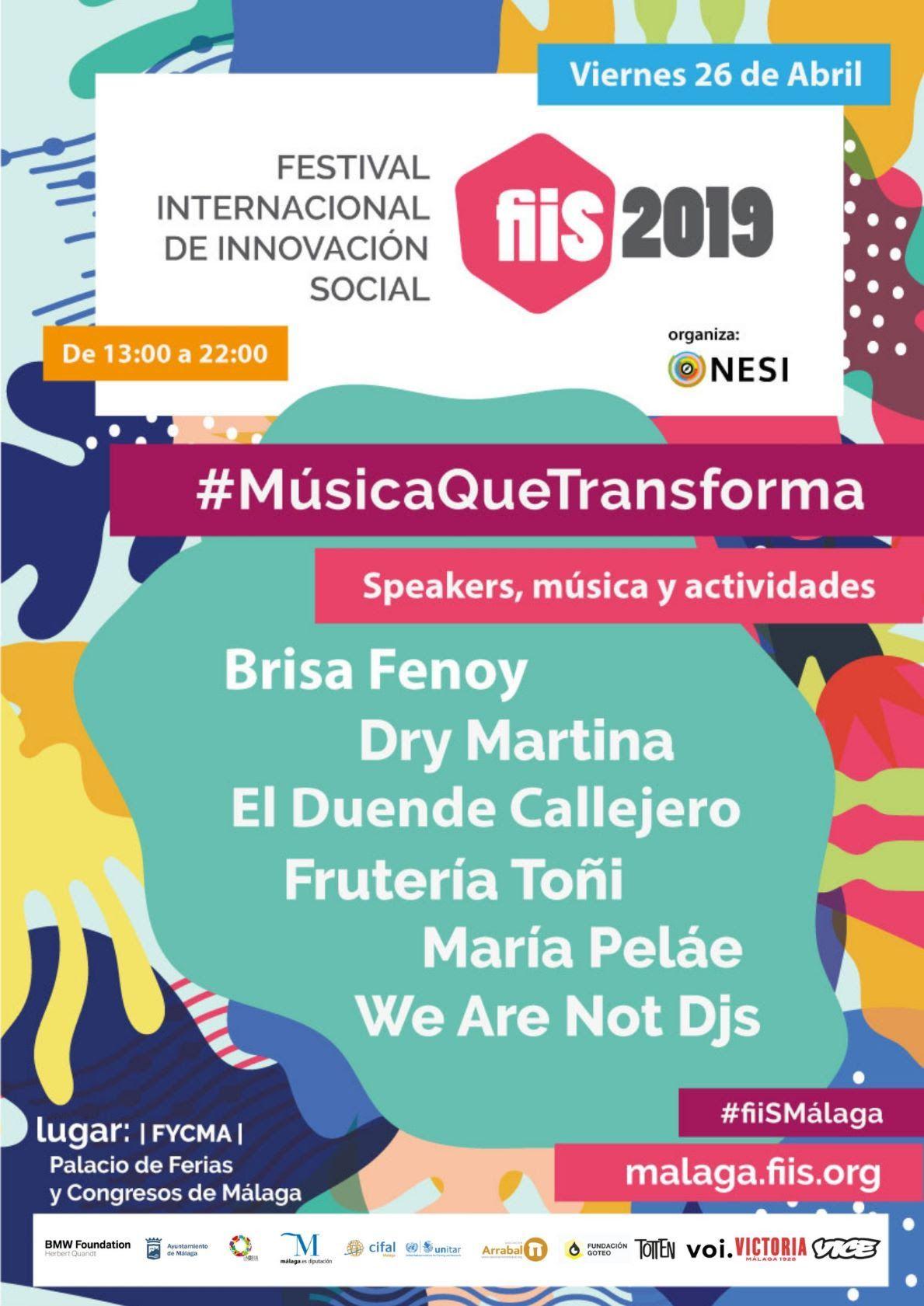 Foto de Cartel del Festival Internacional de Innovación Social (fiiS)