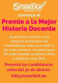 Cartel Premio a la Mejor Historia Docente