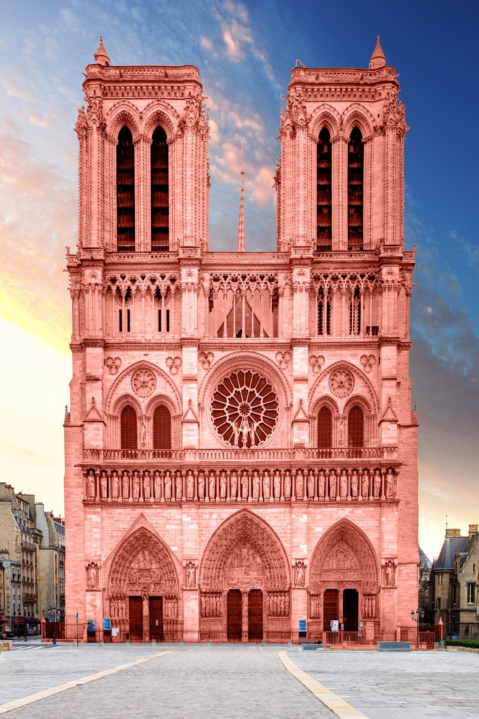 Fotografia Catedrales de color