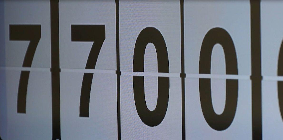 Fotografia El reloj de la población mundial de Loro Parque rompe la