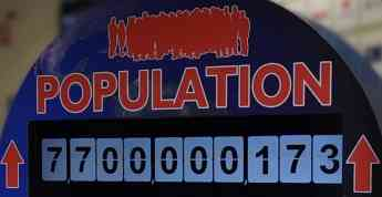 Foto de El reloj de la población mundial de Loro Parque rompe la